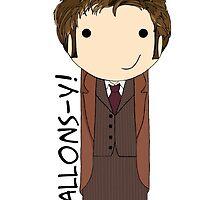 Tenth Doctor kokeshi doll by mimiboo