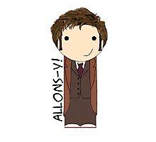 Tenth Doctor kokeshi doll Photographic Print