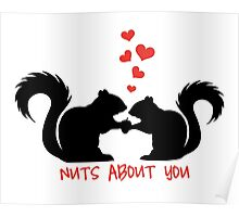 Nuts about you, squirrels in love Poster