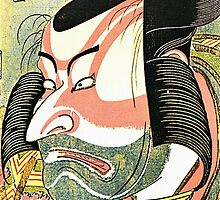 'The Actor Ichikawa Ebizo' by Katsushika Hokusai (Reproduction) by Roz Abellera Art
