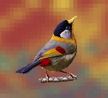 Cute Bird Pixelate by ModernPixelArt