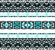 Blue Aztec Pattern  by Kyko619