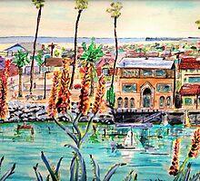 Newport Harbor CA. by ArtbyLeclerc