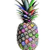 colour pineapple by lynsartstudio