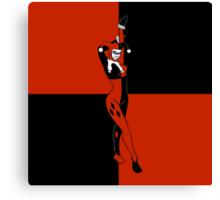 Harley Quinn Color Blocks Canvas Print