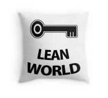 LEANWORLD × KEY ☹ Black Throw Pillow