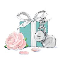 Tiffany box with Tiffany rose by PINKGEEKSPROJ