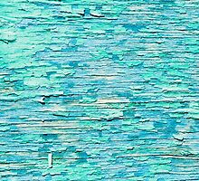 Old blue painted wood background  by bawanch