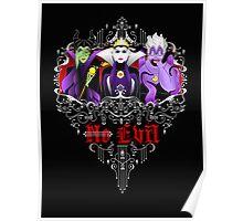 Three Wise Villains (black) Poster
