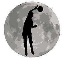 Volleyball Spike Moon by kwg2200