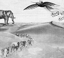 desert elephants by Krzyzanowski Art