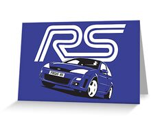 Ford Focus RS Mk1 Greeting Card