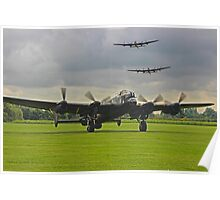 3 Lancasters - East Kirkby  Poster