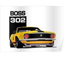 Ford Mustang Boss 302 Poster