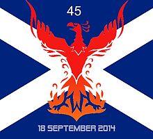 Scottish Independence Referendum 45 Phoenix by David Baker