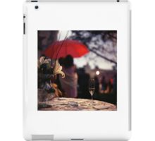 Summer rain - glass of champagne on table in garden wedding party Hasselblad  analog film still life photo iPad Case/Skin