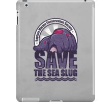 Save the Sea Slug iPad Case/Skin