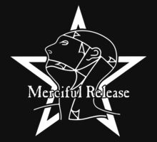 The Sisters Or Mercy - Merciful Release Logo (White on Black) by James Ferguson - Darkinc1