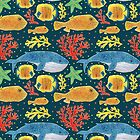 Sea Animals Print by haidishabrina
