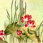 Lotuses in the Grass by Anna Ewa Miarczynska