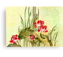 Lotuses in the Grass Canvas Print