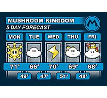 Mushroom Kingdom 5 Day Weather Forecast Photographic Print