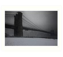 Brooklyn Bridge Blizzard Art Print