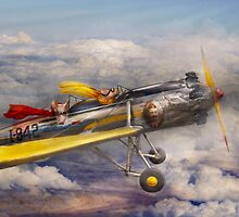Flying Pig - Plane -The joy ride by Mike  Savad
