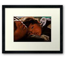 Tender Glance Framed Print