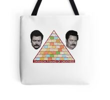 Ron Swanson Pyramid Of Greatness Tote Bag