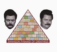 Ron Swanson Pyramid Of Greatness T-Shirt