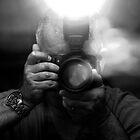 Photographer Capturing Light in B&W by Buckwhite