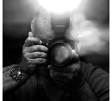 Photographer Capturing Light in B&W Photographic Print