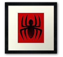 Spiderman Insignia Framed Print