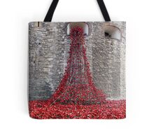 A Cascade Of Poppies At The Tower Of London Tote Bag