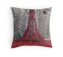 A Cascade Of Poppies At The Tower Of London Throw Pillow