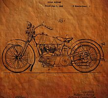Harley Davidson Motorcycle Patent 1925 by chris2766