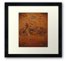 Harley Davidson Motorcycle Patent 1925 Framed Print