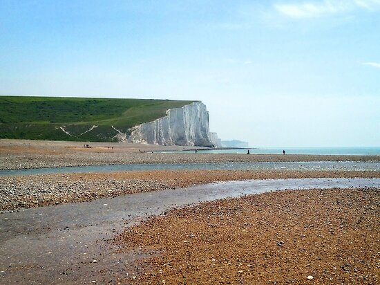 Seven Sisters Beach, East Sussex by Ludwig Wagner