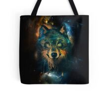 Galaxy Wolf Tote Bag