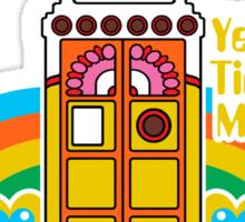 Yellow Time Machine Sticker