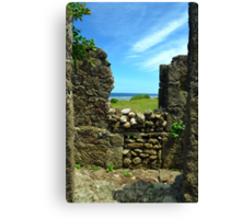 Looking through the ruins Canvas Print