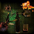 Green still life with orchid by andreisky