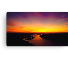 Sunset Over The Delaware Canvas Print