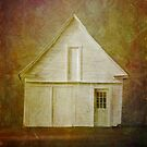 White Barn by Dave  Higgins