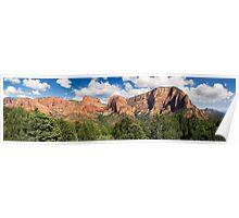 Kolob Canyons Panorama - Zion National Park, Utah Poster