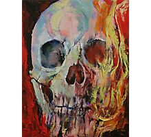 Skull Fire Photographic Print