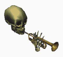 Spooky Skeltal Trumpet Kids Clothes