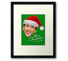 Merry Christmas from St Nic-olas Cage Framed Print