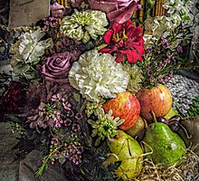 Fruit and Flower Basket for the Fall by Jane Neill-Hancock